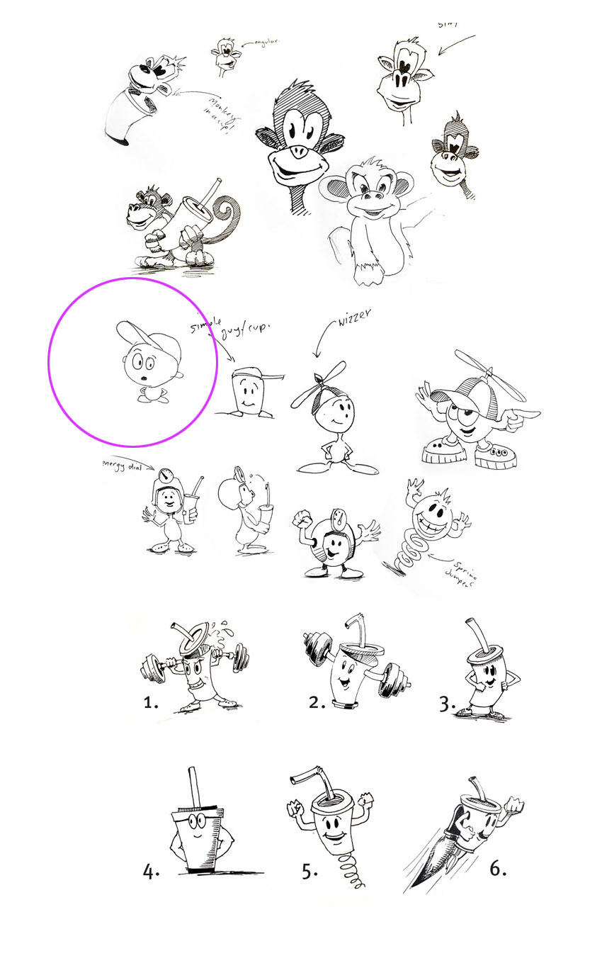 character_design_sketches_fast_food