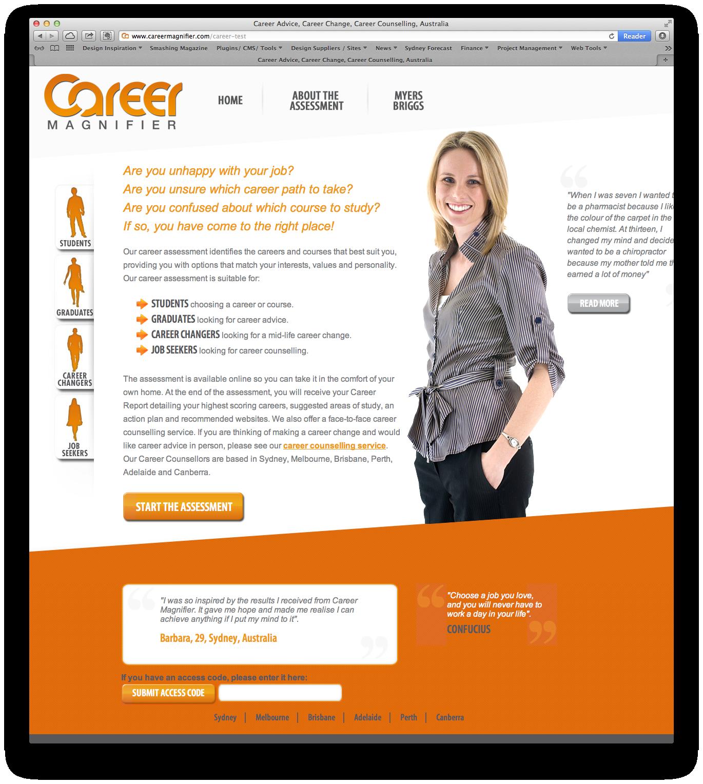 Career Magnifier Web Design