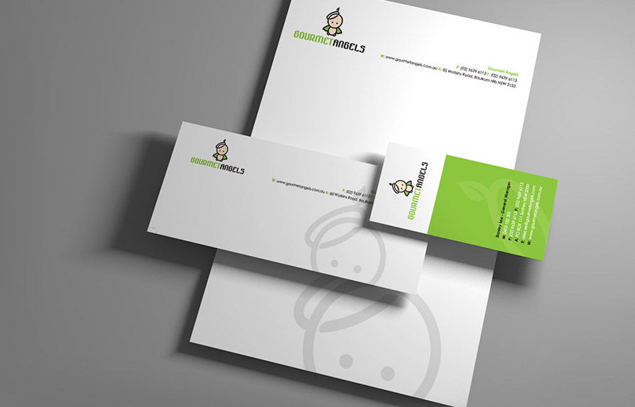 character designs used on company stationery