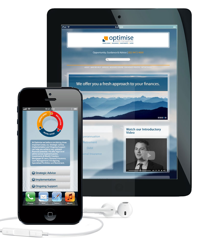Responsive template - adapts to mobile devices