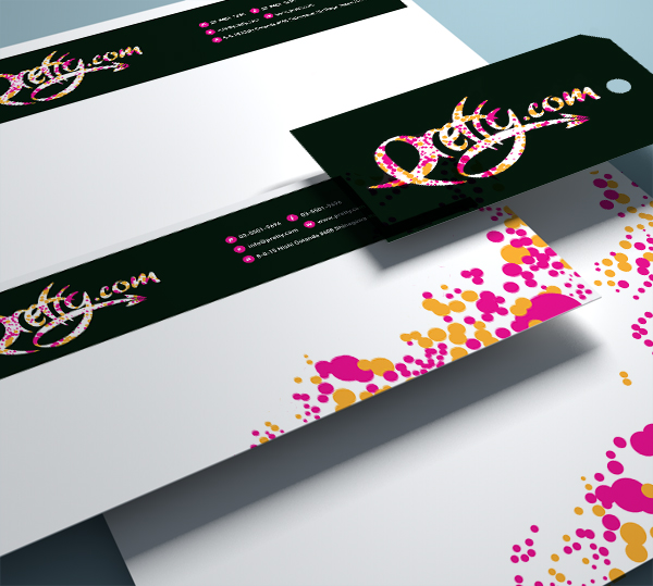 business card design sample - pretty.com