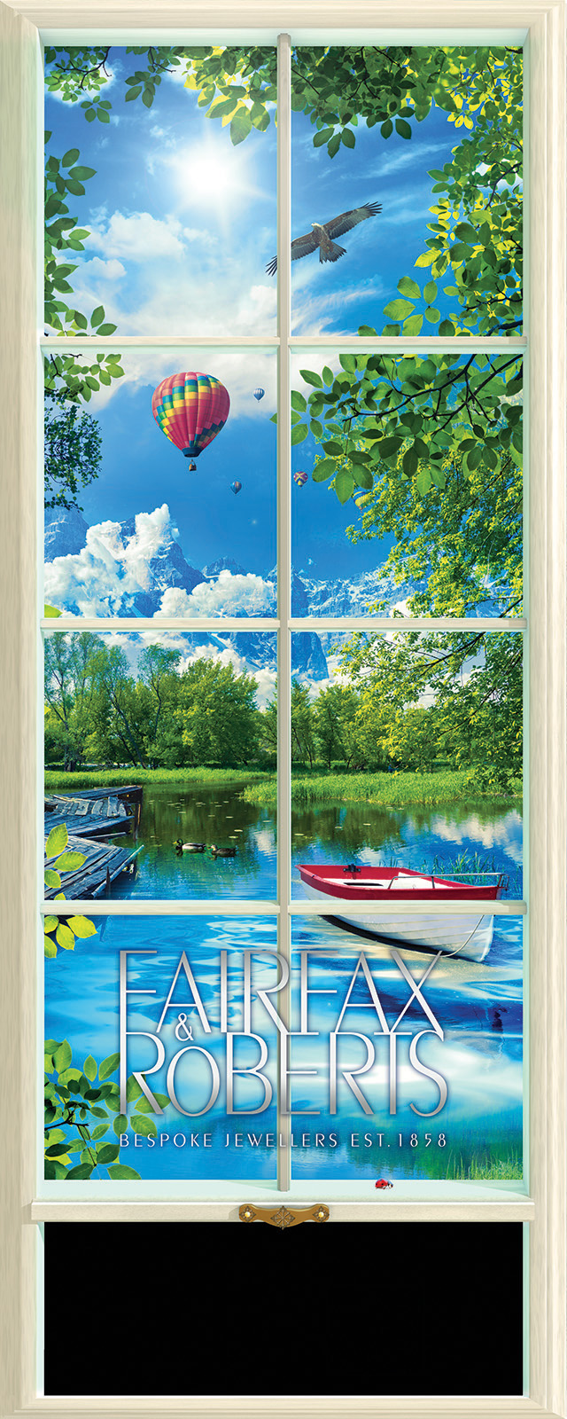 Retail illustration window display design -summer
